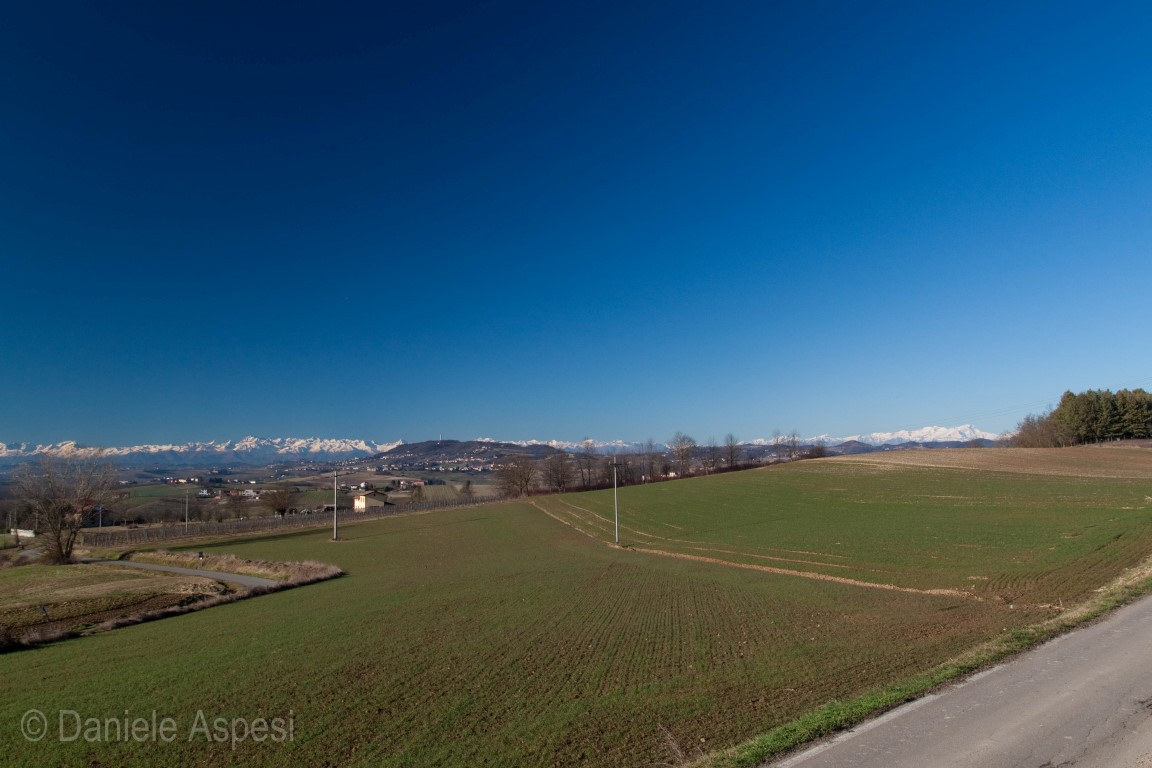 Monferrato hills and the Alps